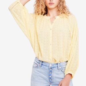 Free People Down From The Clouds Embroidered Top